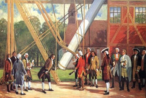 Prinz Adolph Ferdinand besucht die Sternwarte