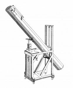 Zeichnung des 7-füssigen Herschel-Teleskops
