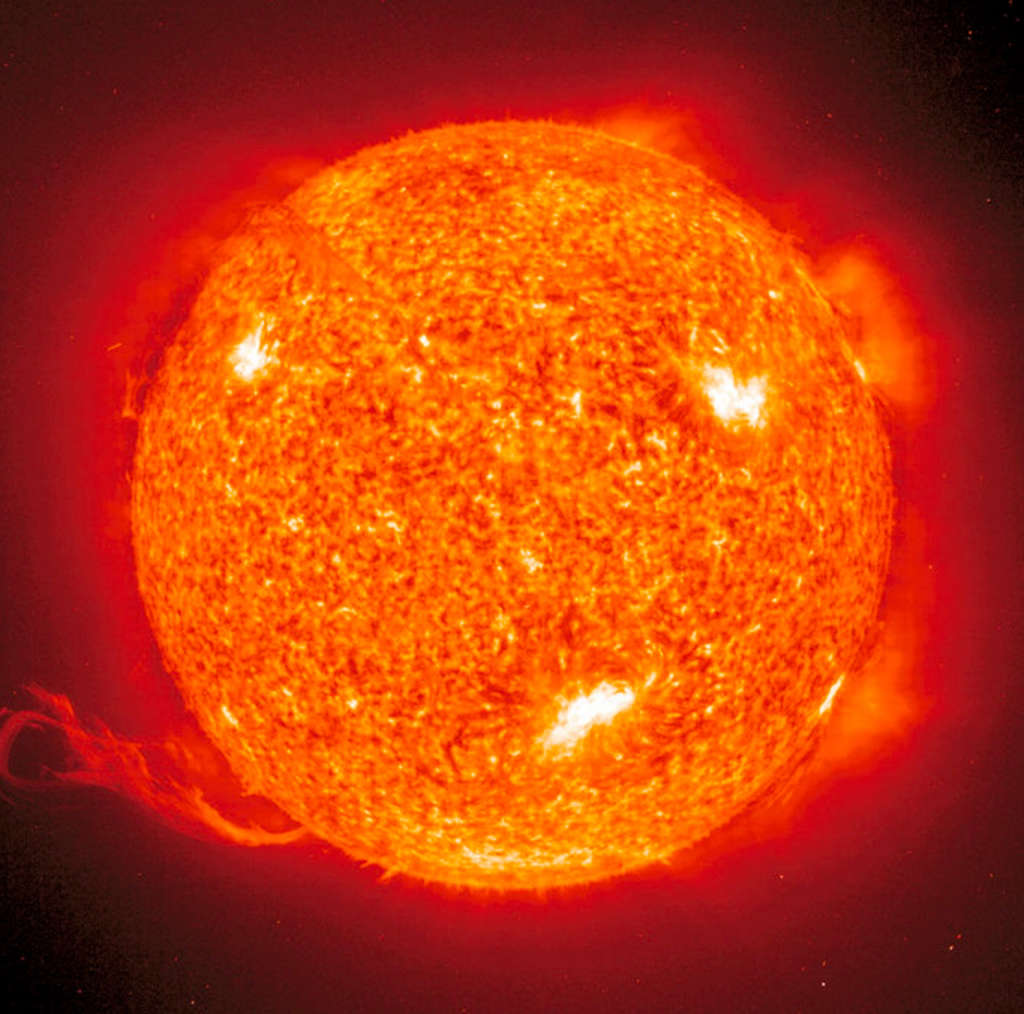 Blick auf die Sonne - TELESCOPIUM-Lilienthal